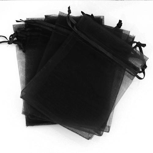 Μαύρα Πουγκιά Oργάντζας 23 x 35εκ. Συσκευασία 100 τεμάχια
