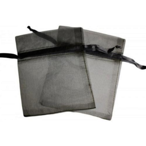 Πουγκιά Oργάντζας Μαύρο 10 x 12εκ. Συσκευασία 100 τεμάχια