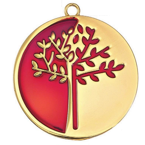 Metal tree of life charm gold