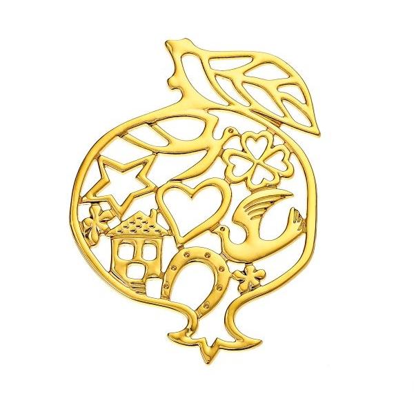 Μεταλλικό ρόδι  χρυσό
