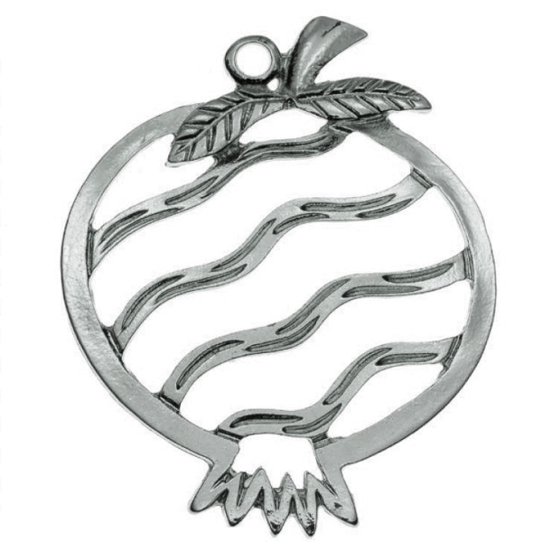 Metal pomegranate antique silver