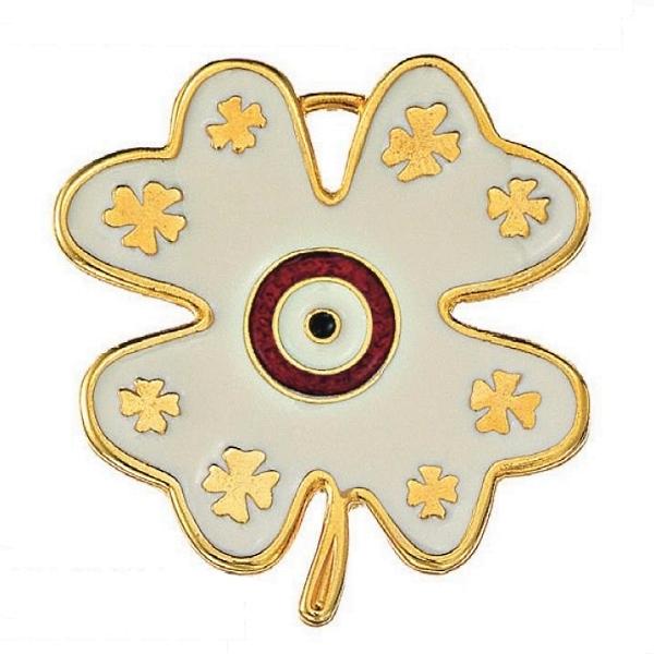 Μεταλλικό τριφύλλι χρυσό