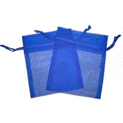 Πουγκιά Oργάντζας Μπλέ 10 x 12εκ. Συσκευασία 100 τεμάχια