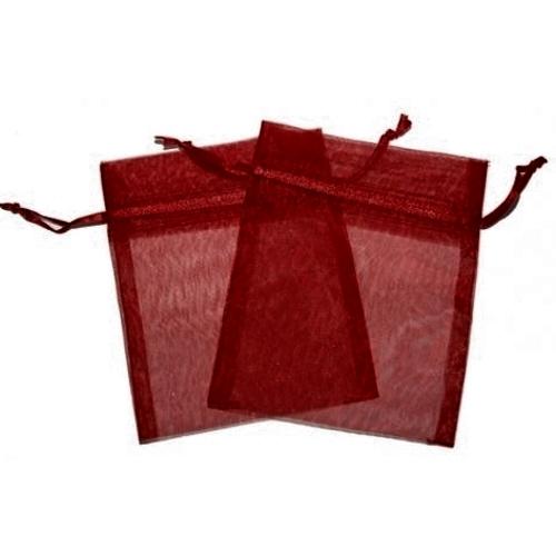 Πουγκιά Oργάντζας Μπορντό 10 x 12εκ. Συσκευασία 100 τεμάχια