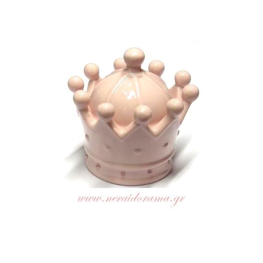 Διακοσμητική  κορώνα  ρόζ