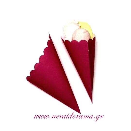 Χάρτινα χωνάκια  για ζαχαρωτά -Φούξια
