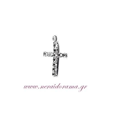 Μεταλλικός σταυρός  με ζιρκόν