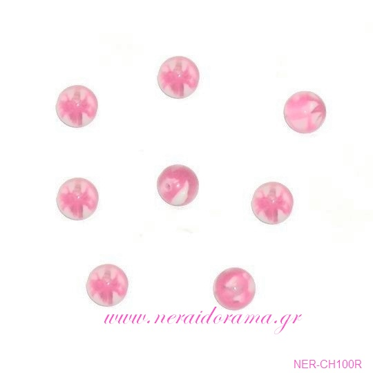 Χάντρα ακρυλική -Ρόζ