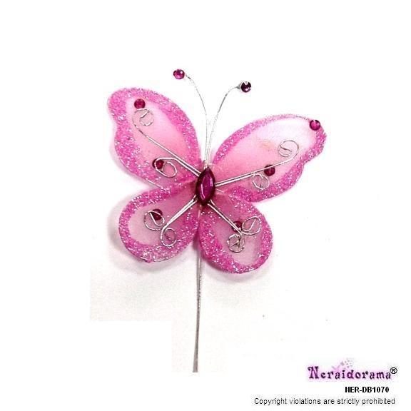 Διακοσμητική πεταλλούδα - Ρόζ