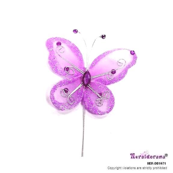 Διακοσμητική  πεταλούδα -Λιλά