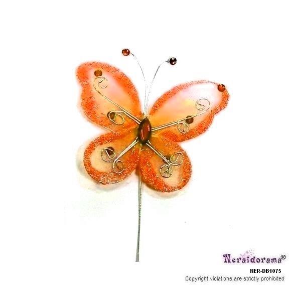 Διακοσμητική πεταλλούδα -πορτοκαλί