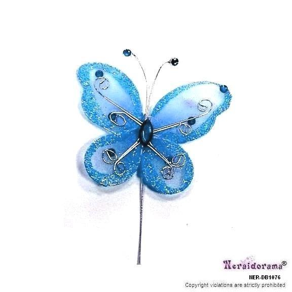 Διακοσμητική πεταλλούδα - Τυρκουάζ