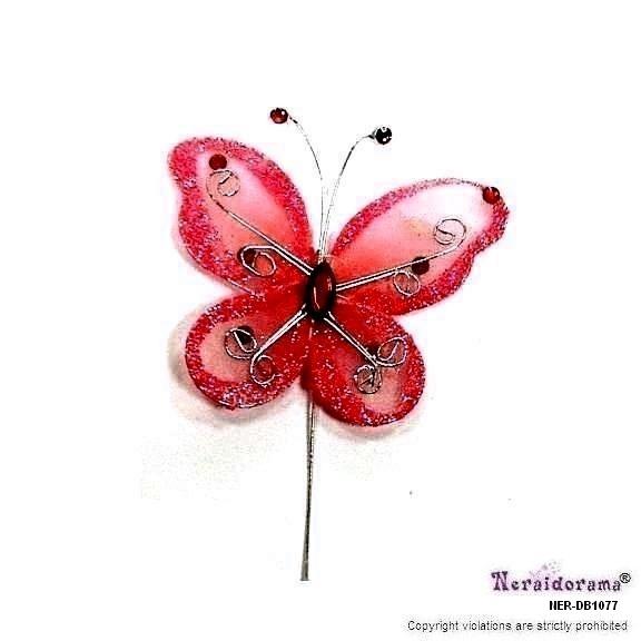 Διακοσμητική πεταλλούδα -Κόκκινη