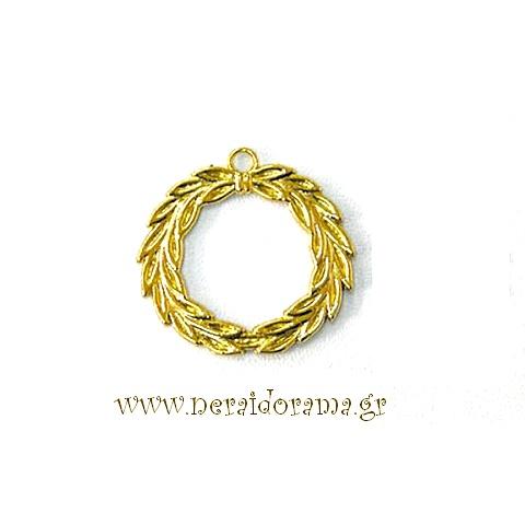 Μεταλλικό στεφάνι-Χρυσό