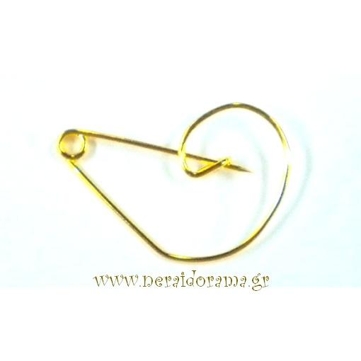 Παραμάνα Κλειδί Σόλ Χρυσή Συσκευασία 50 τεμαχίων