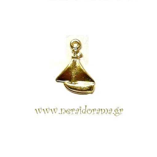 Μεταλλικό  καραβάκι -Χρυσό