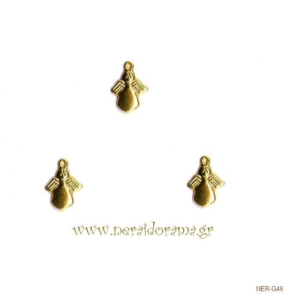 Μεταλλικό Αγγελάκι -Χρυσό