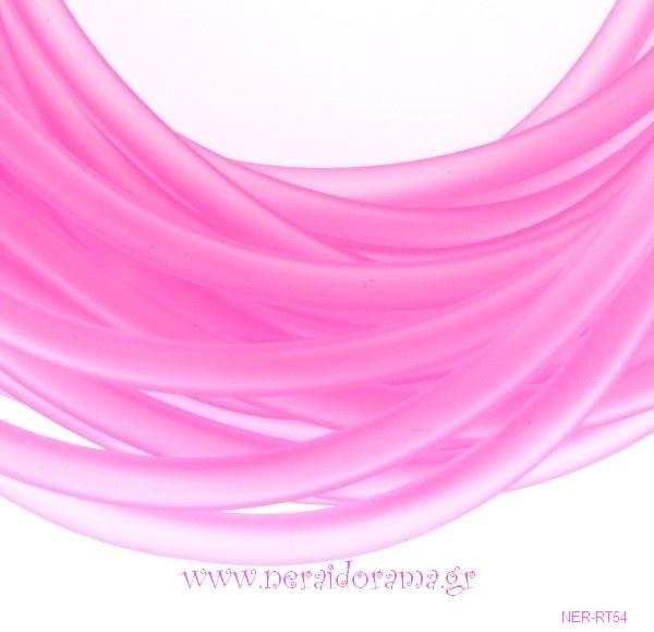 Κορδόνι καουτσούκ 2mm- Ρόζ
