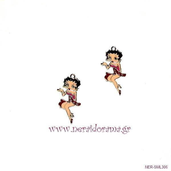 Μεταλλική  Betty Boop με σμάλτο