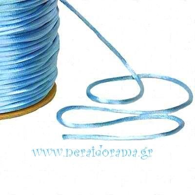 Satin rat tail cord 2mm x 100m.roll Turqoise