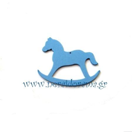 Ξύλινο  καρουζέλ-αλογάκι