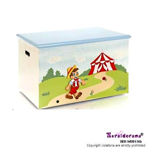 Ξύλινο κουτί βάπτισης  Πινόκιο