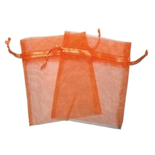 Πουγκιά Oργάντζας Πορτοκαλί 10 x 12εκ. Συσκευασία 100 τεμάχια