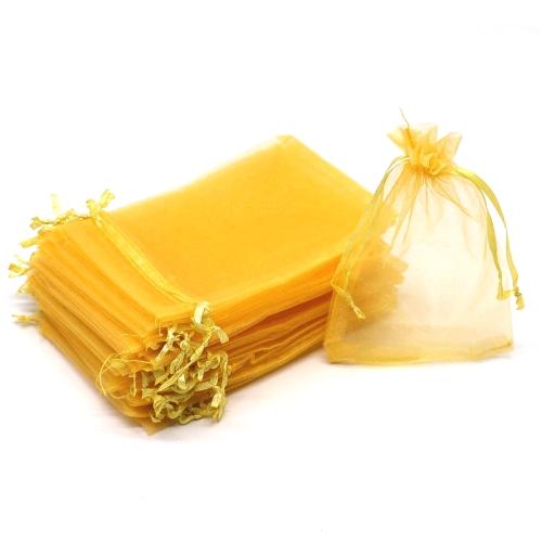 Πουγκιά Oργάντζας Κίτρινα 15 x 21εκ. Συσκευασία 100 τεμάχια