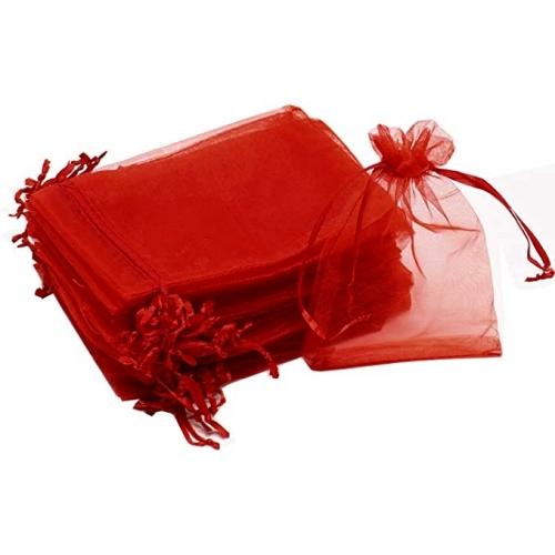 Πουγκιά Oργάντζας Κόκκινα 15 x 21εκ. Συσκευασία 100 τεμάχια