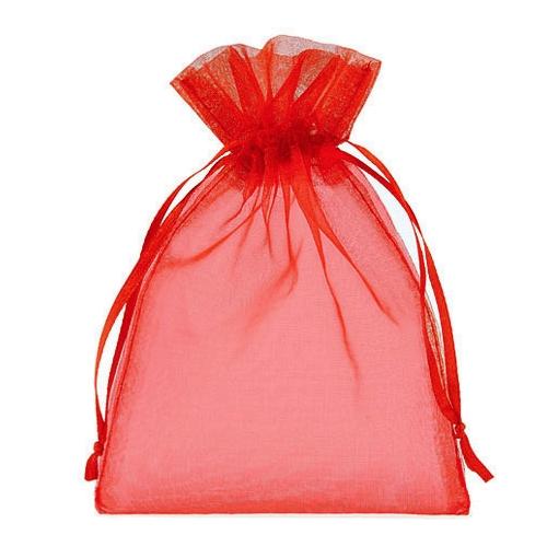 Πουγκιά Oργάντζας Κόκκινο 13 x 18εκ. Συσκευασία 100 τεμάχια