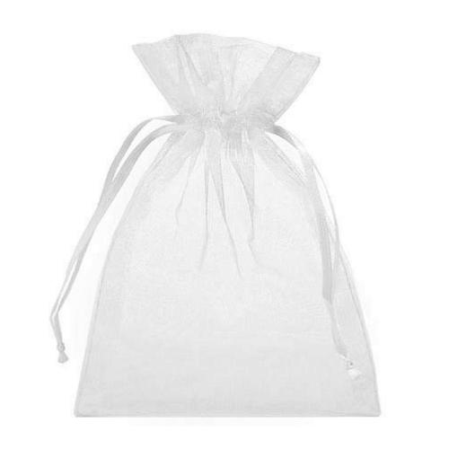 Πουγκιά Oργάντζας Λευκό 13 x 18εκ. Συσκευασία 100 τεμάχια