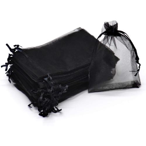 Black Organza Bags 15 x 21 cm  100pcs