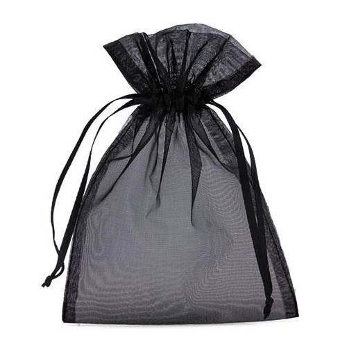 Πουγκιά Oργάντζας Μαύρο 13 x 18εκ. Συσκευασία 100 τεμάχια