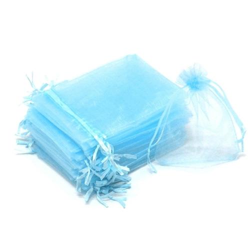 Light Blue Organza Bags 15 x 21 cm 100pcs