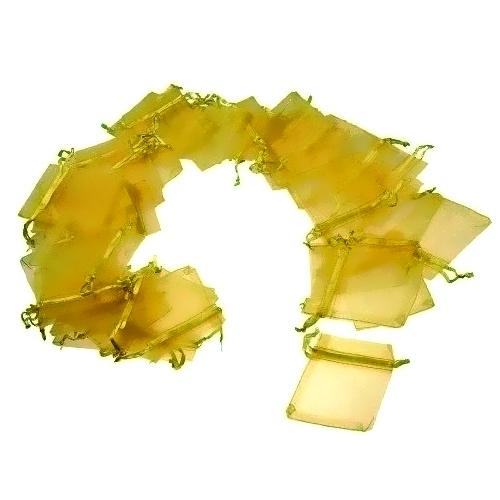 Πουγκιά Οργάντζας Κίτρινο 7 x 9 εκ