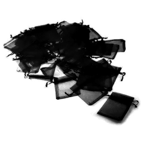 Πουγκιά Οργάντζας Μαύρο 7 x 9 εκ