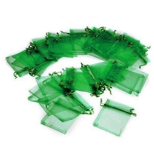 Πουγκί Οργάντζας Πράσινο 7 x 9 εκ