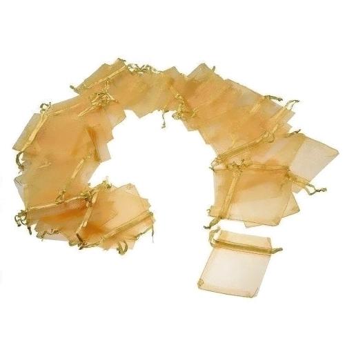 Πουγκιά Οργάντζας Χρυσό 7 x 9εκ