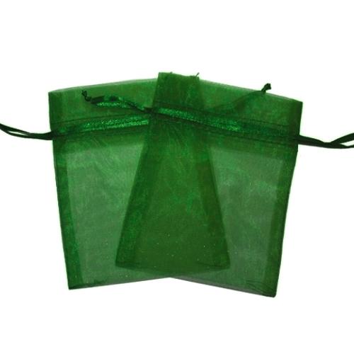 Πουγκιά Oργάντζας Πράσινο 10 x 12εκ. Συσκευασία 100 τεμάχια