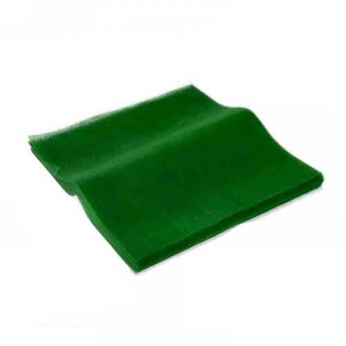 Τούλι Κομμένο Τετράγωνο Πράσινο 45x50εκ. 100τεμ