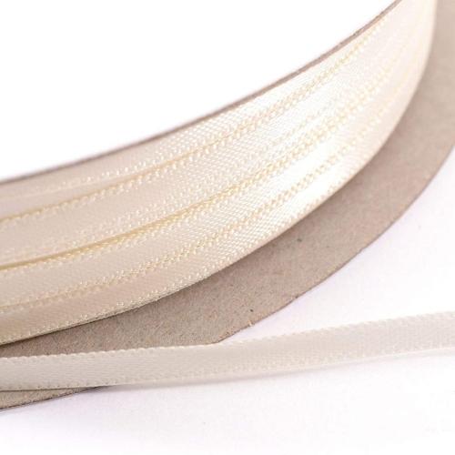 Kορδέλα Σατέν Διπλής Όψης 3 mm x 100μ Εκρού