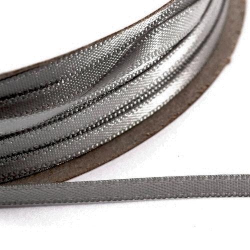 Kορδέλα Σατέν Διπλής Όψης 3 mm x 100μ Γκρί