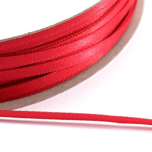 Kορδέλα Σατέν Διπλής Όψης 3 mm x 100μ Κόκκινο