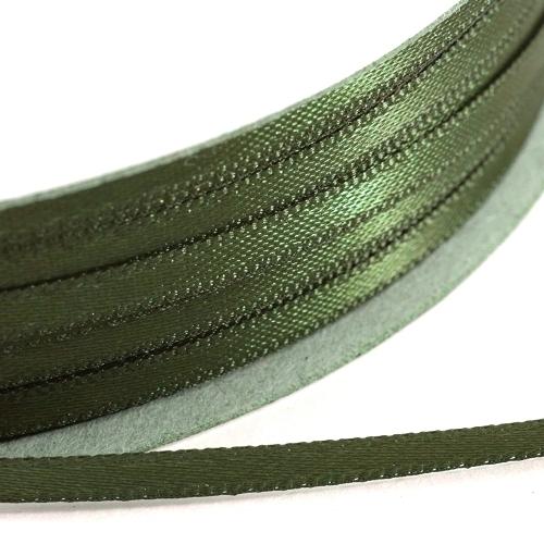 Kορδέλα Σατέν Διπλής Όψης 3 mm x 100μ Λαδί