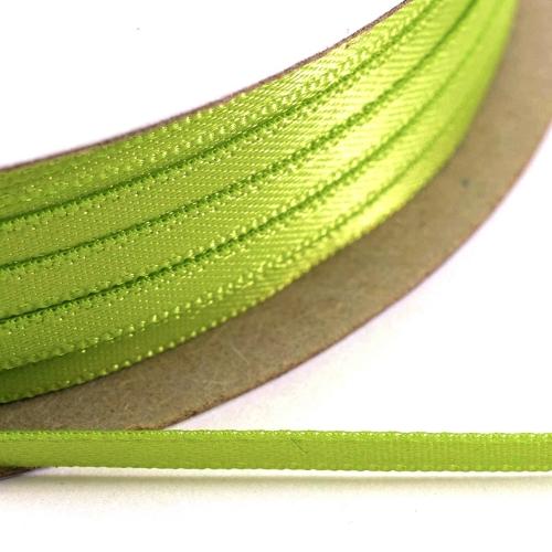 Kορδέλα Σατέν Διπλής Όψης 3 mm x 100μ Λαχανί