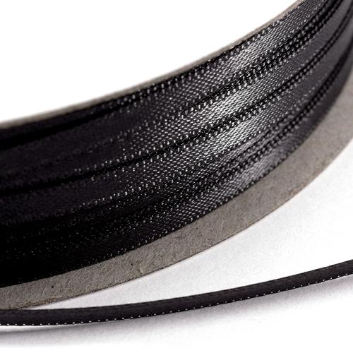 Kορδέλα Σατέν Διπλής Όψης 3 mm x 100μ Μαύρο