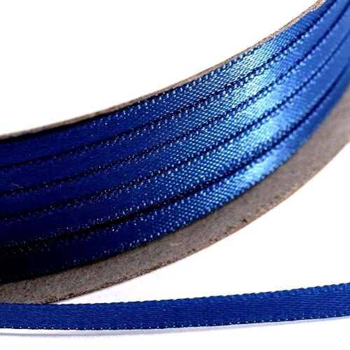 Kορδέλα Σατέν Διπλής Όψης 3 mm x 100μ Μπλέ Ρουά