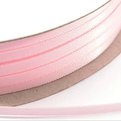 Kορδέλα Σατέν Διπλής Όψης 3 mm x 100μ Ρόζ