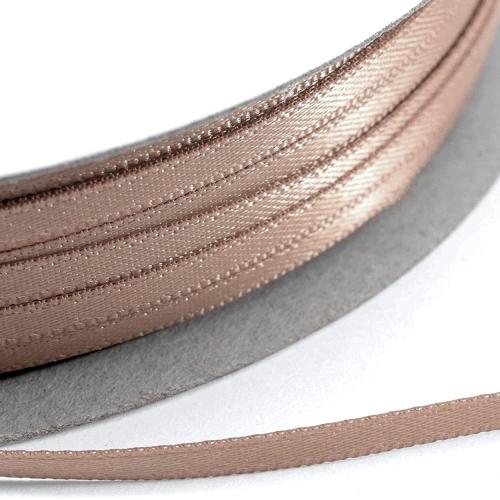 Kορδέλα Σατέν Διπλής Όψης 3 mm x 100μ Σοκολά