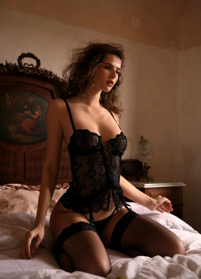 Lace Corset with T Panty